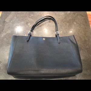 Tory Burch Robinson black large tote